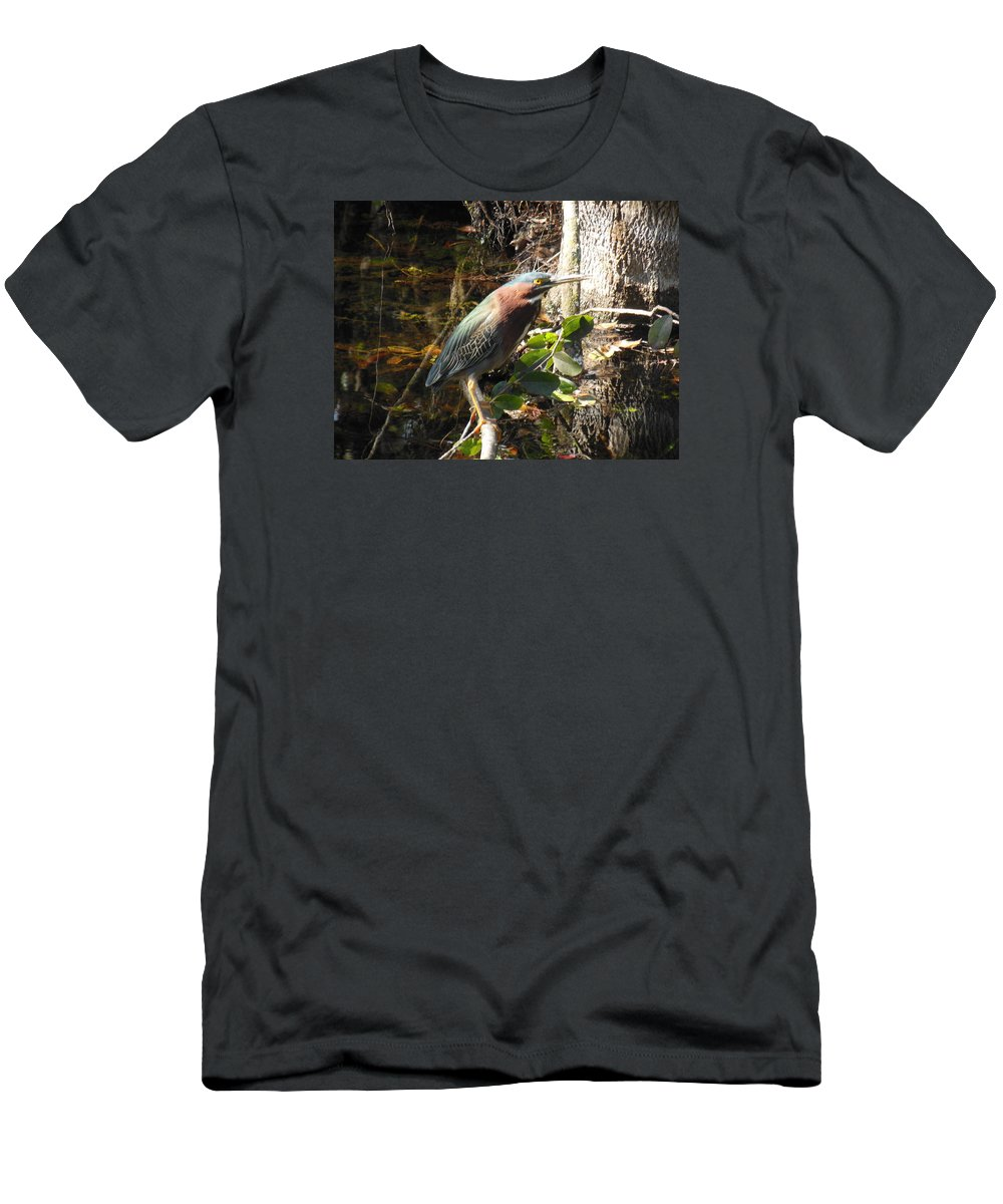 Everglades Men's T-Shirt (Athletic Fit) featuring the photograph Everglades Inhabitant by Bonita Barlow