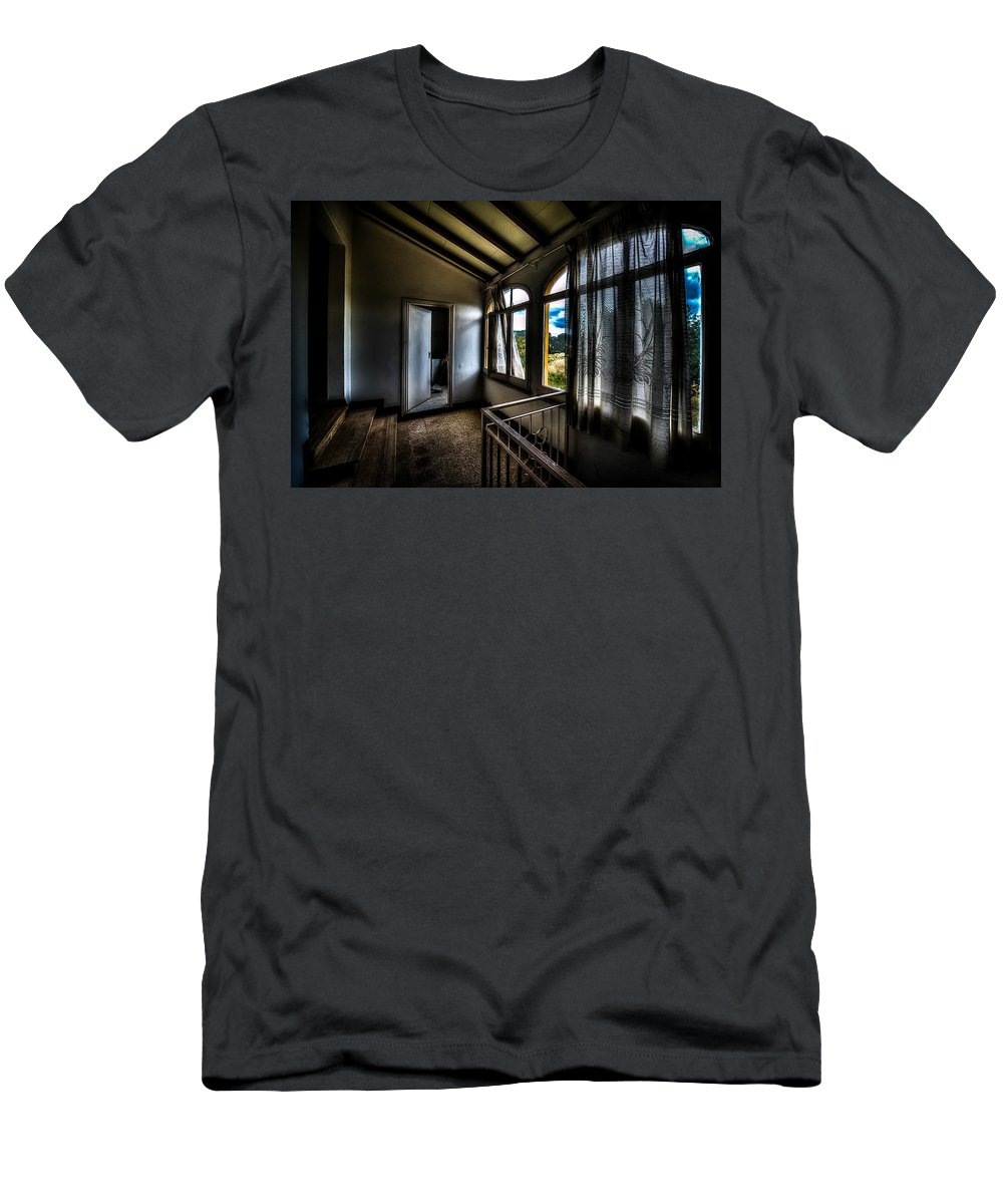 Luoghi Abbandonati Men's T-Shirt (Athletic Fit) featuring the photograph Ex Conservificio - Former Cannery IIi by Enrico Pelos