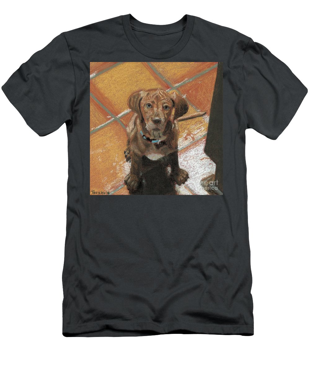 Ridgeback Men's T-Shirt (Athletic Fit) featuring the pastel Expectant Annabelle by Matthew Toczko