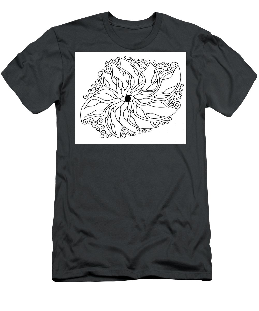 Eye Men's T-Shirt (Athletic Fit) featuring the drawing Eye by Trinity Bass