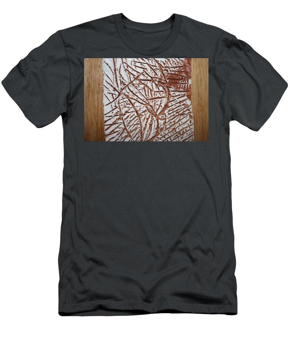 Jesus Men's T-Shirt (Athletic Fit) featuring the ceramic art Ezras Day - Tile by Gloria Ssali