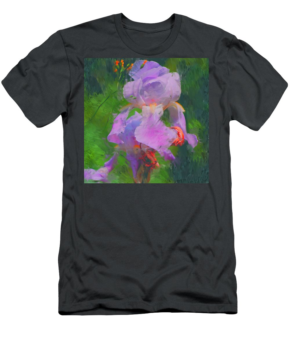 Iris Men's T-Shirt (Athletic Fit) featuring the painting Fading Glory by David Lane