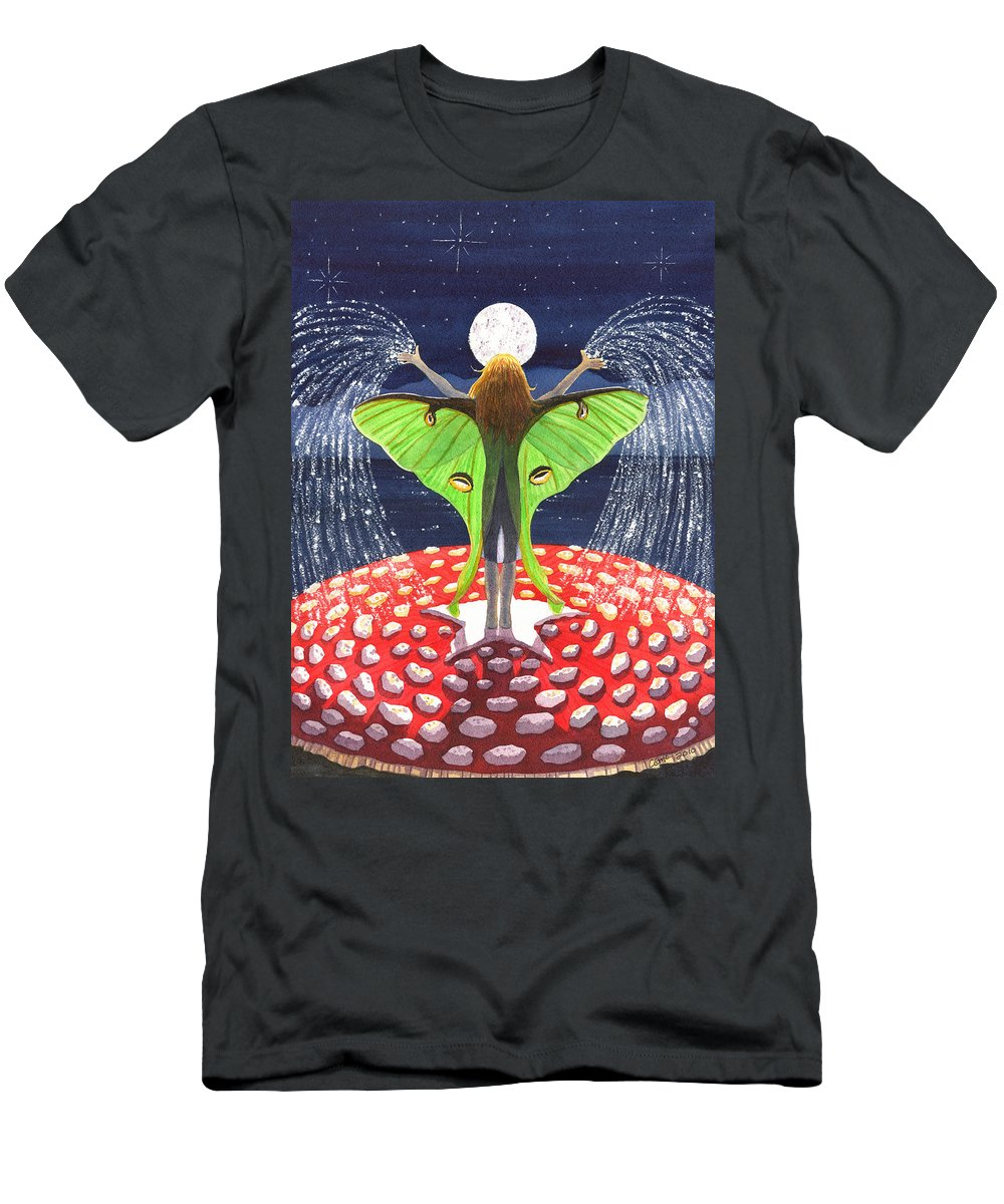 Fairy Men's T-Shirt (Athletic Fit) featuring the painting Fairy Dust by Catherine G McElroy