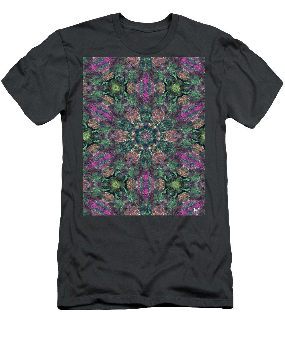 Acrylics Men's T-Shirt (Athletic Fit) featuring the mixed media Fairy Magic II by Maria Watt