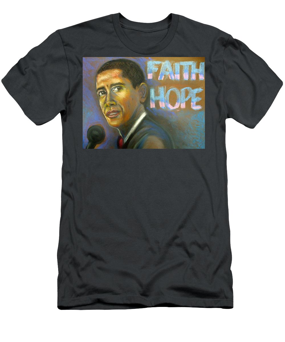 Men's T-Shirt (Athletic Fit) featuring the drawing Faith And Hope by Jan Gilmore