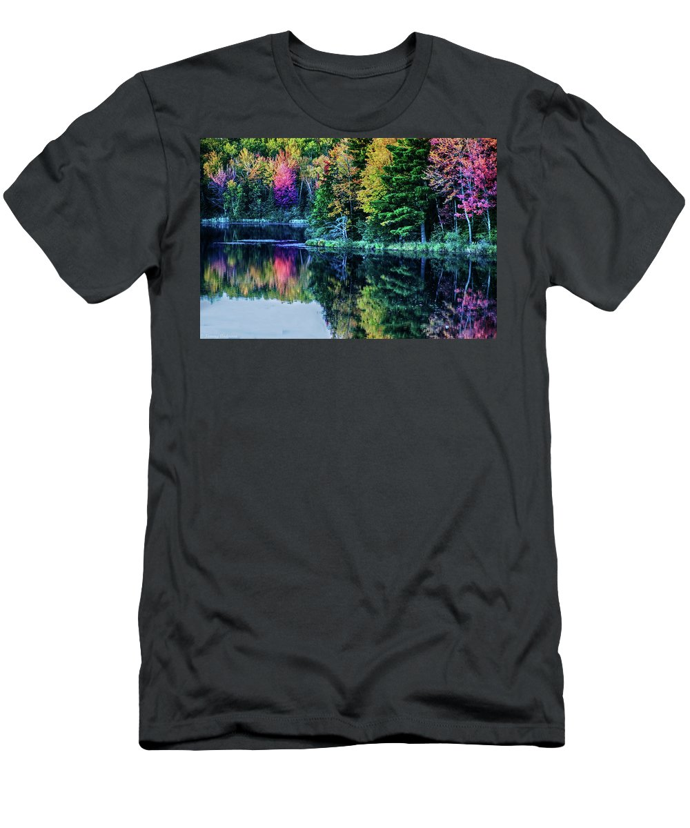 Fall Men's T-Shirt (Athletic Fit) featuring the photograph Fall Color Explosion by Tommy Anderson