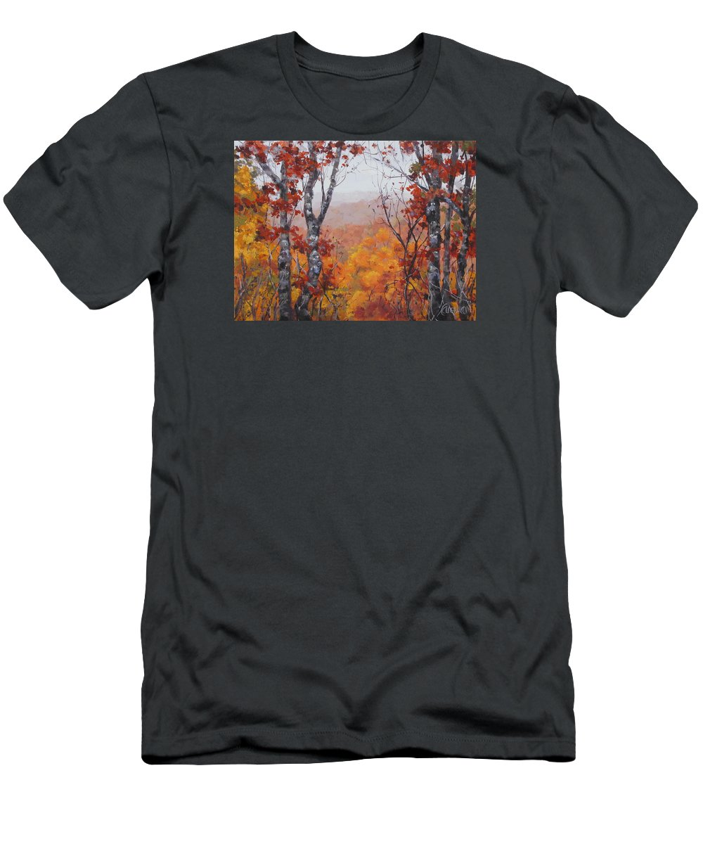 Landscape T-Shirt featuring the painting Fall Color by Karen Ilari