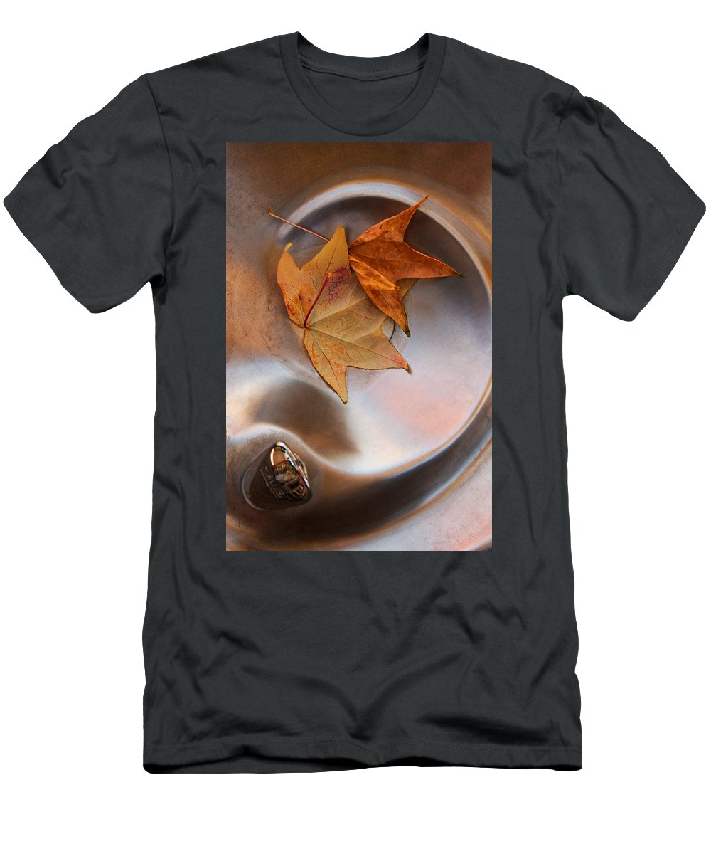 Fall Leaf Men's T-Shirt (Athletic Fit) featuring the photograph Fall Fountain by Scott Sawyer