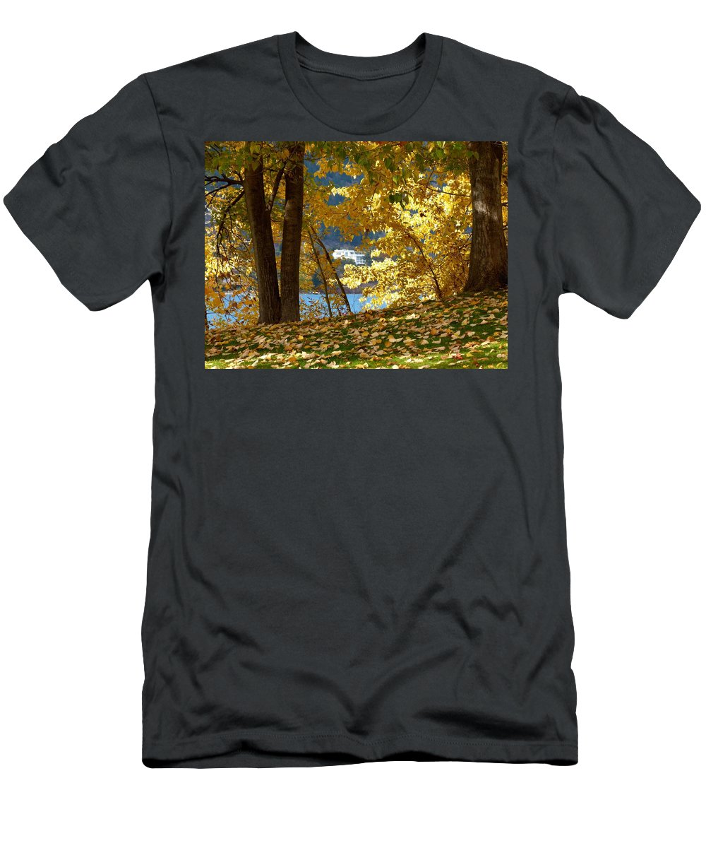 Kaloya Park Men's T-Shirt (Athletic Fit) featuring the photograph Fall In Kaloya Park 3 by Will Borden