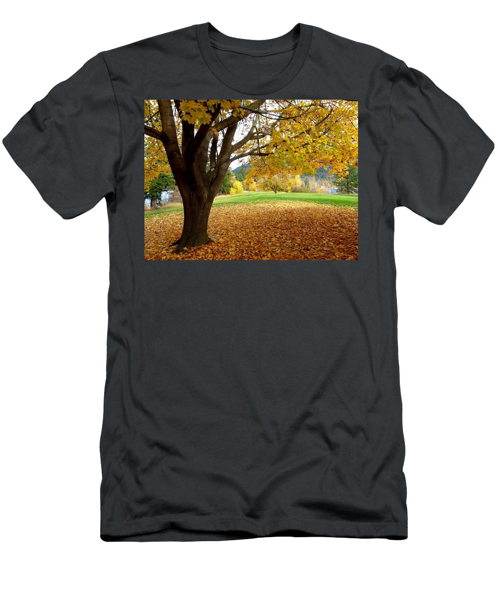 Kaloya Park Men's T-Shirt (Athletic Fit) featuring the photograph Fall In Kaloya Park 8 by Will Borden