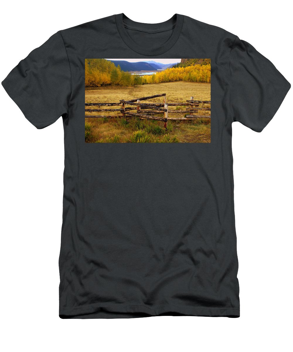 Fall Colors Men's T-Shirt (Athletic Fit) featuring the photograph Fall In The Rockies 2 by Marty Koch