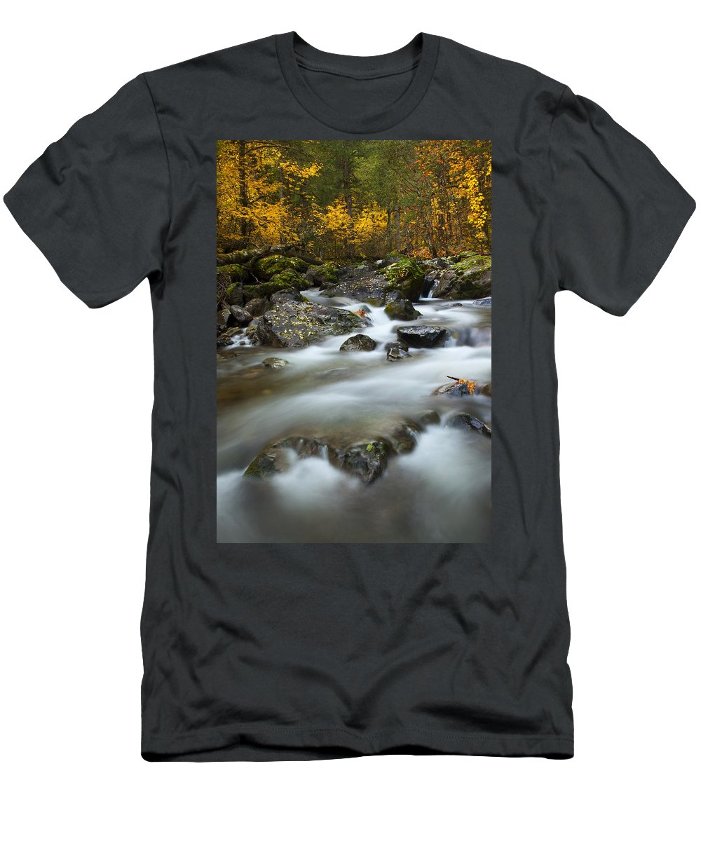 Stream T-Shirt featuring the photograph Fall Surge by Mike Dawson