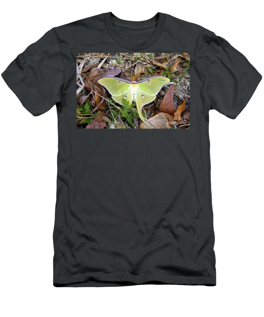 Moth Men's T-Shirt (Athletic Fit) featuring the photograph Fallen Angel by David Lee Thompson