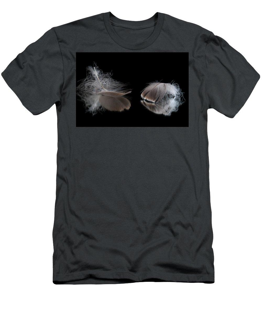 Macro Men's T-Shirt (Athletic Fit) featuring the photograph Fallen Reflections by Matt Hicks