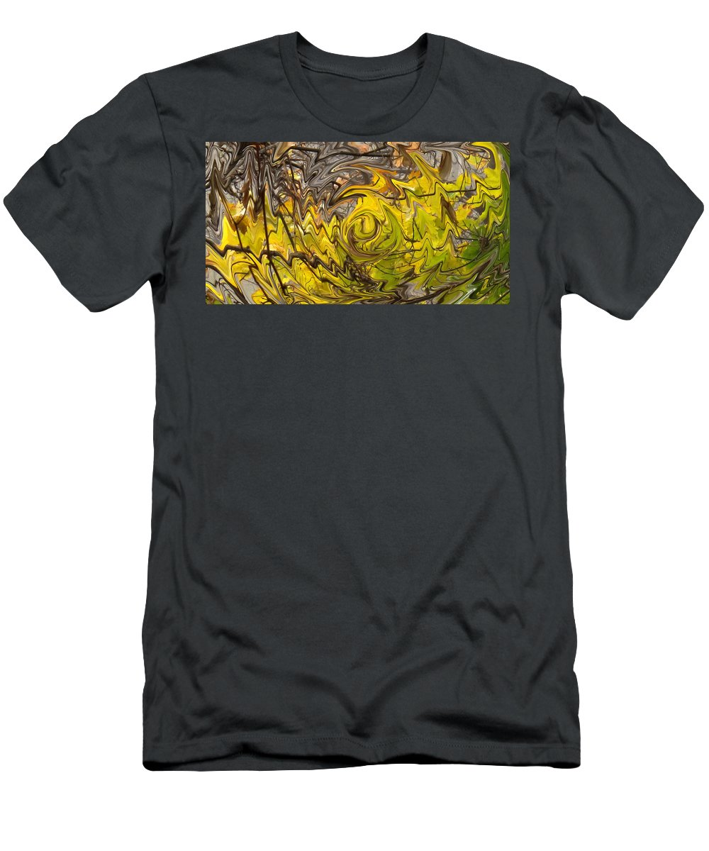 Fall Men's T-Shirt (Athletic Fit) featuring the photograph Falling Leaves by Ian MacDonald