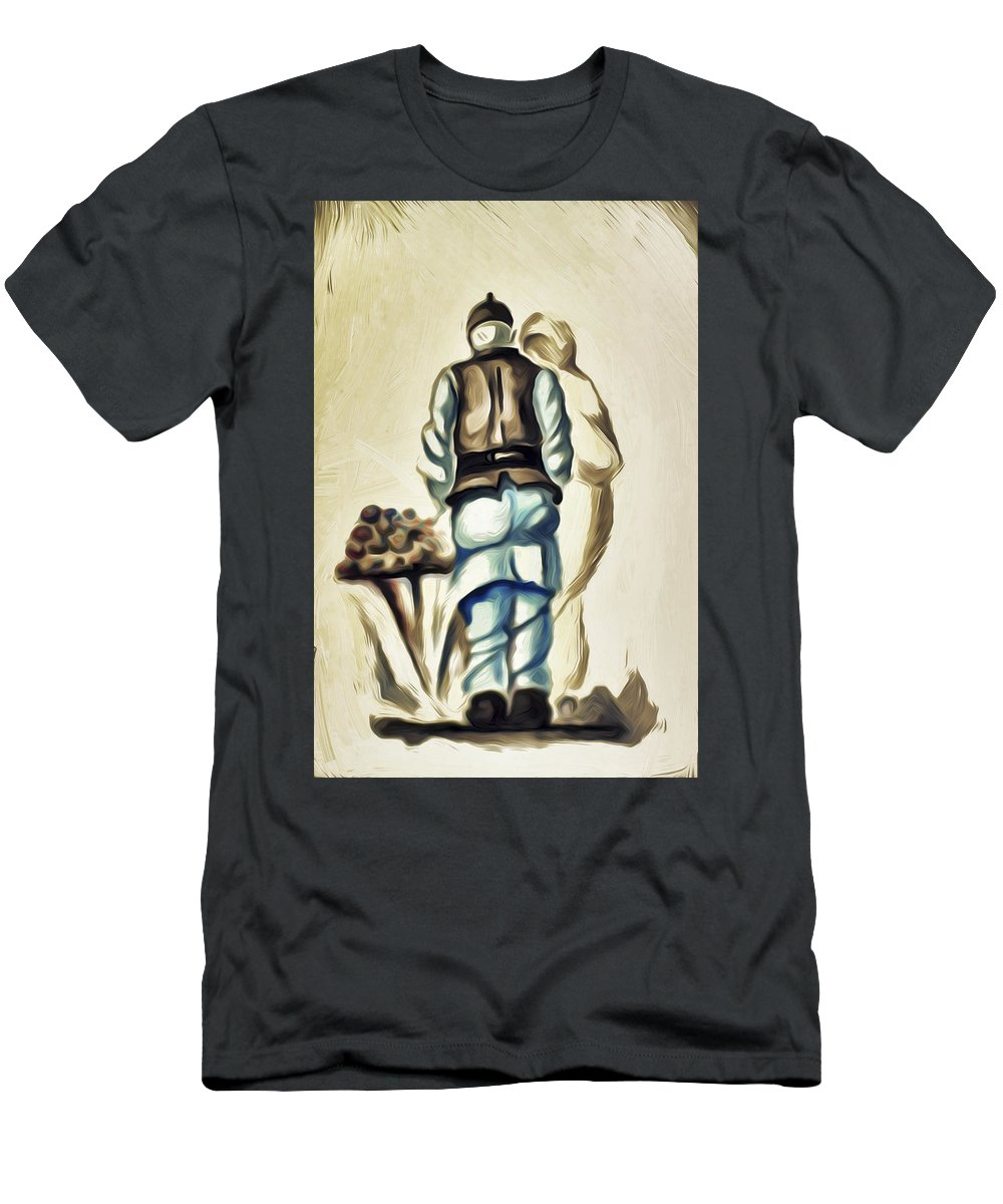 A Men's T-Shirt (Athletic Fit) featuring the painting Family A by Svetlin Yosifov