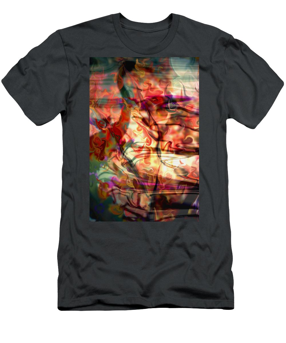 Bright Men's T-Shirt (Athletic Fit) featuring the photograph Fanta... by Arthur Miller