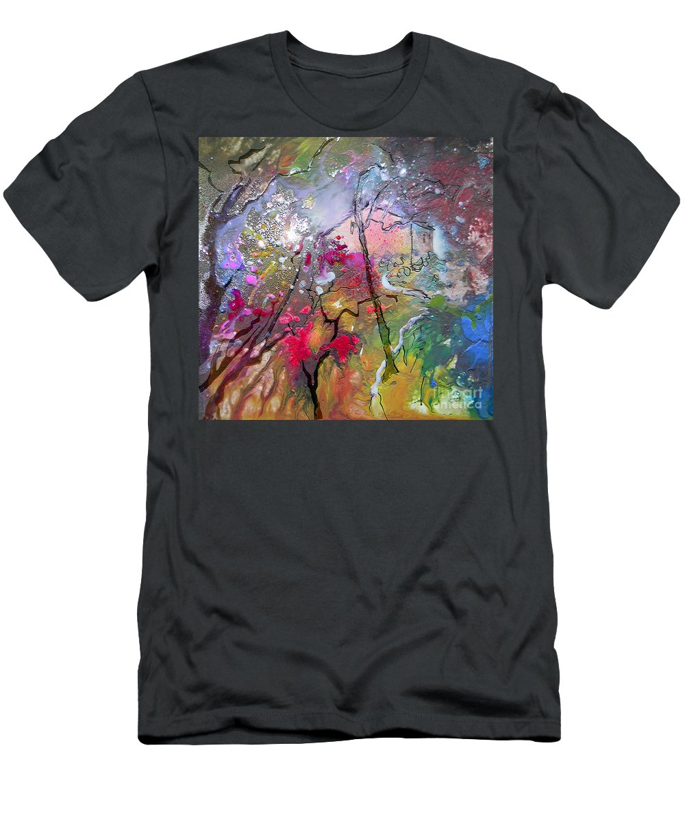 Miki Men's T-Shirt (Athletic Fit) featuring the painting Fantaspray 19 1 by Miki De Goodaboom