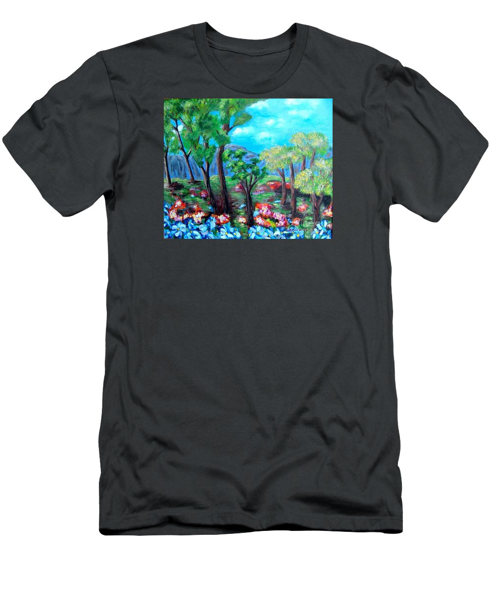 Fantasy T-Shirt featuring the painting Fantasy Forest by Laurie Morgan