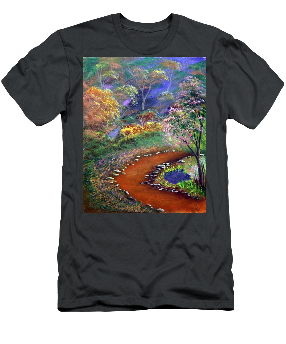 Dawn Blair Men's T-Shirt (Athletic Fit) featuring the painting Fantasy Path by Dawn Blair