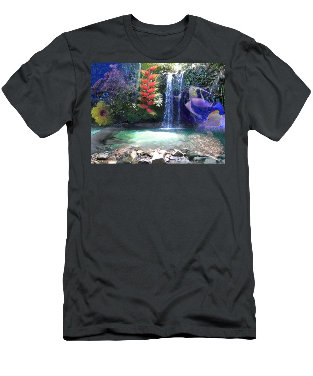 Waterfall Men's T-Shirt (Athletic Fit) featuring the photograph Favorite Things by Angie Hamlin