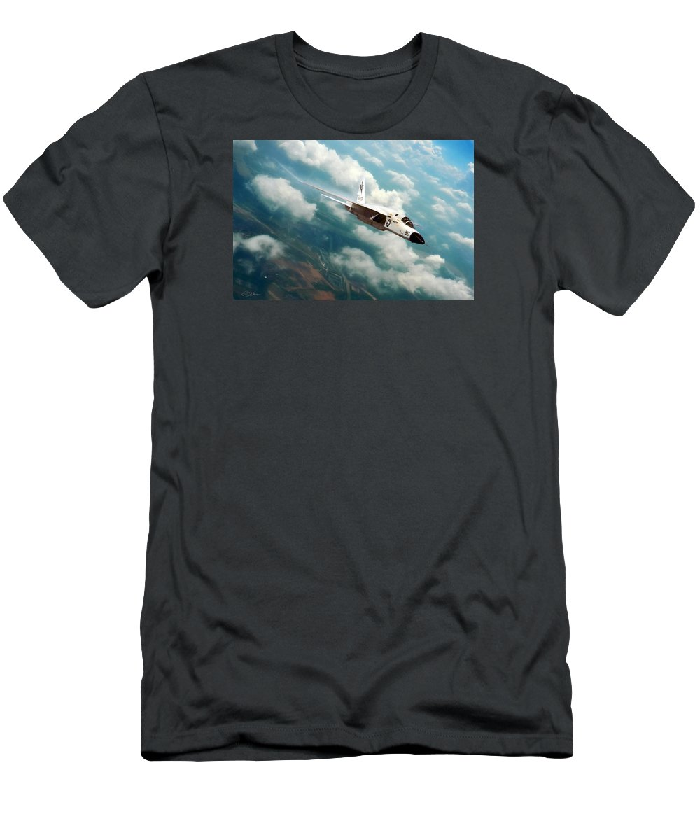 Aviation Men's T-Shirt (Athletic Fit) featuring the digital art Fearless Ra-