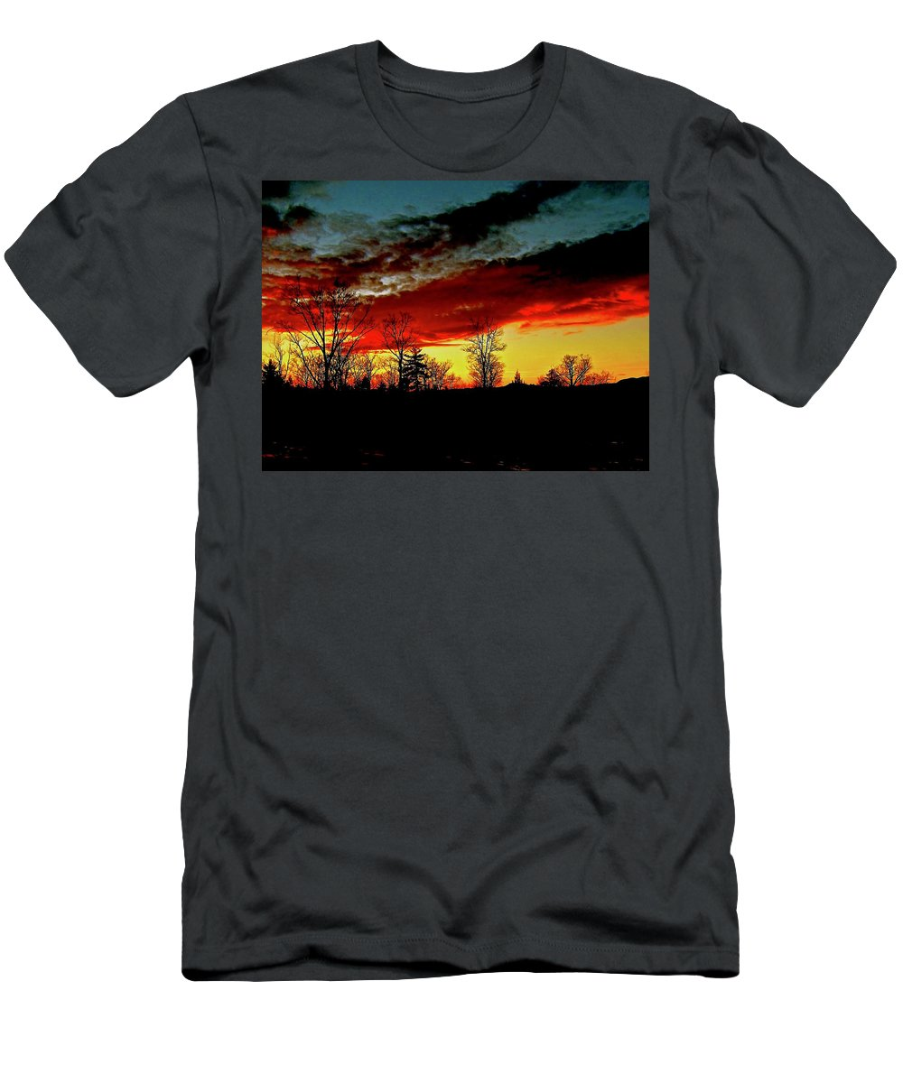Sunset Men's T-Shirt (Athletic Fit) featuring the photograph Fever Pitch by Elizabeth Tillar