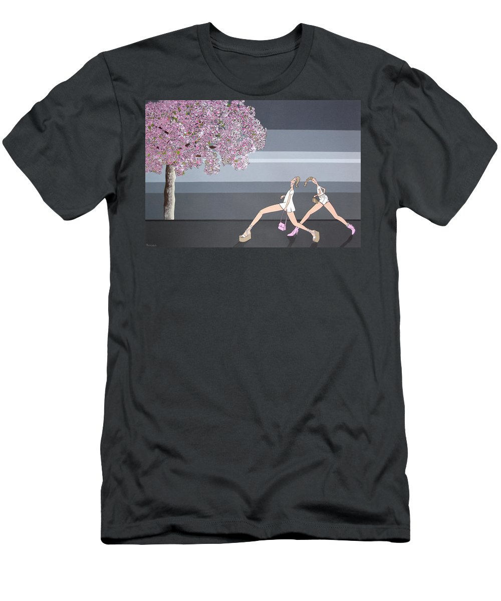 Girls Men's T-Shirt (Athletic Fit) featuring the painting Fifteen by Patricia Van Lubeck