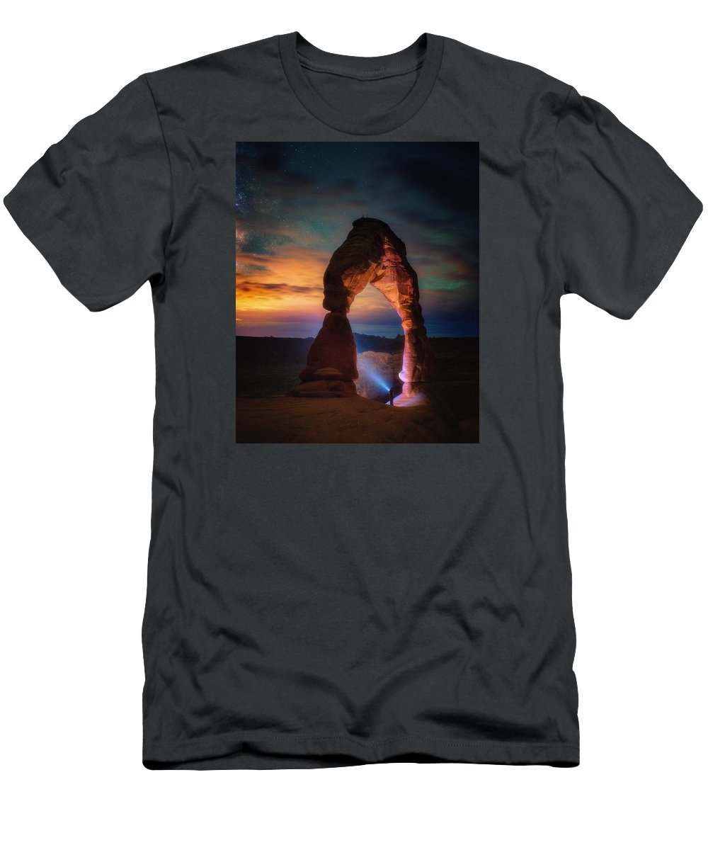 Arches T-Shirt featuring the photograph Finding Heaven by Darren White