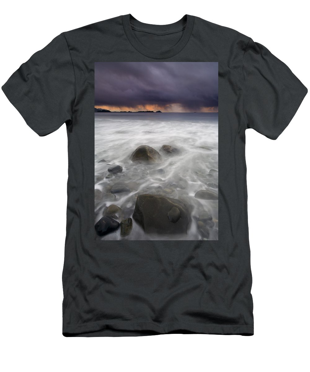 Storm Men's T-Shirt (Athletic Fit) featuring the photograph Fingers Of The Storm by Mike Dawson