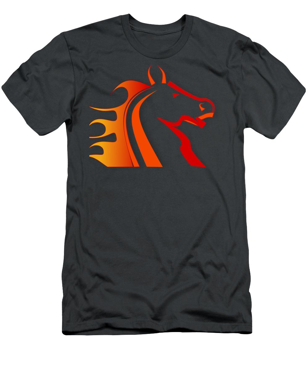 Horse Men's T-Shirt (Athletic Fit) featuring the digital art Fire Horse by Scott Davis