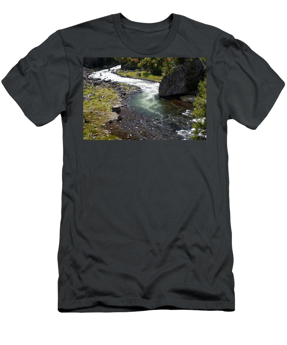 Yellowstone National Park. Firehole River Men's T-Shirt (Athletic Fit) featuring the photograph Firehole Bend by Marty Koch