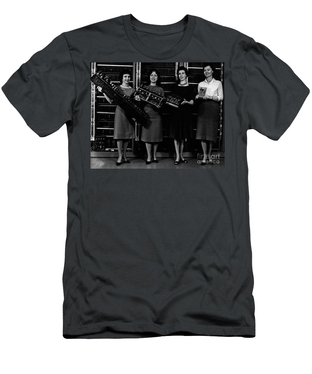 Black And White Men's T-Shirt (Athletic Fit) featuring the photograph First Four Computer Circuit Boards by Science Source