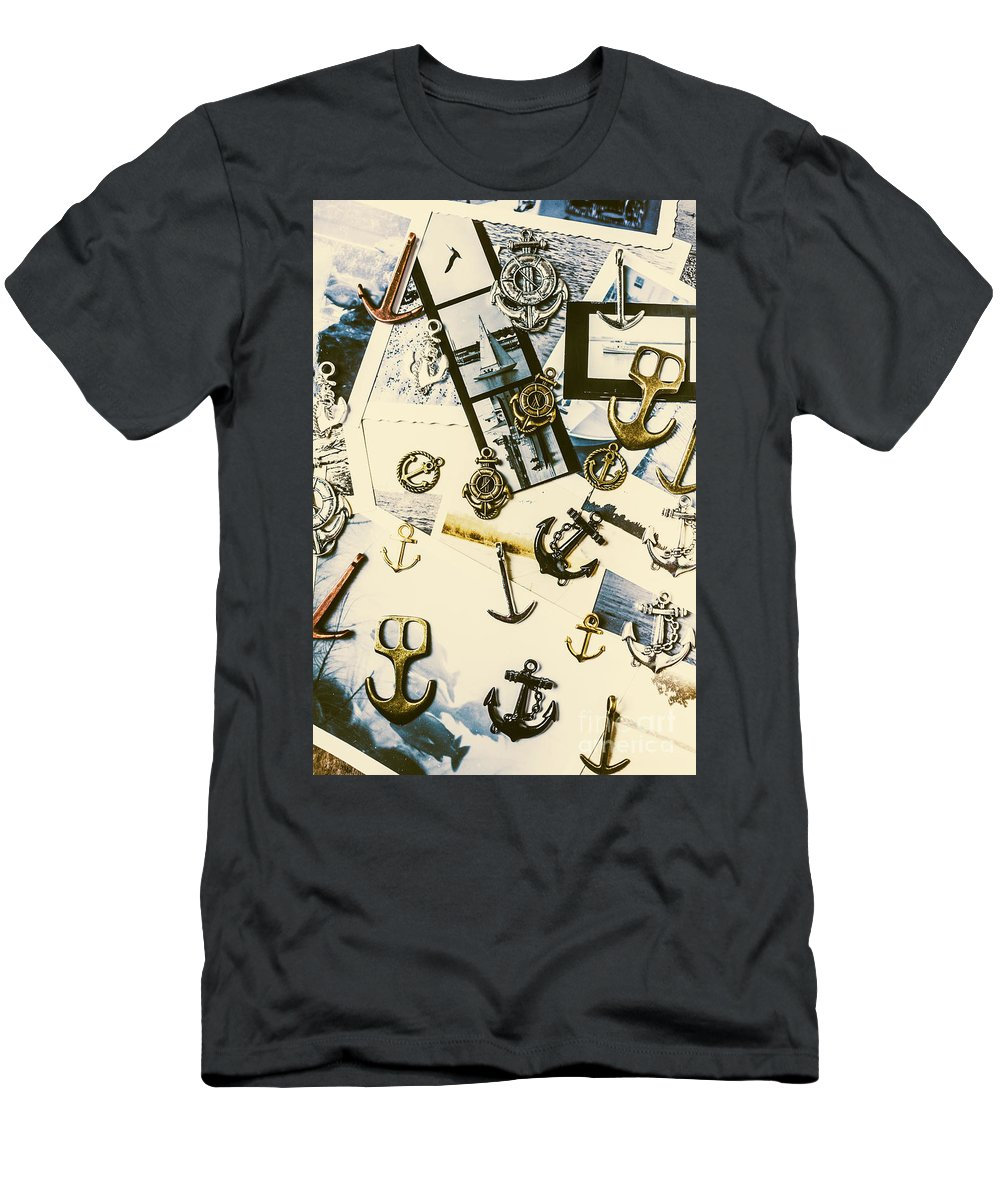 Anchor Men's T-Shirt (Athletic Fit) featuring the photograph Fishermans Iconography by Jorgo Photography - Wall Art Gallery