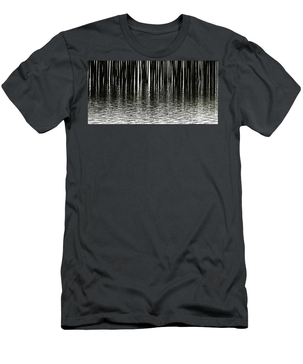 Charles Harden Men's T-Shirt (Athletic Fit) featuring the photograph Fishermans Wharf Provincetown by Charles Harden
