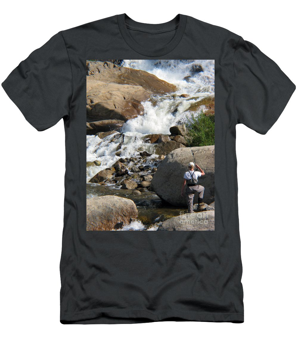 Fishing Men's T-Shirt (Athletic Fit) featuring the photograph Fishing Anyone by Amanda Barcon