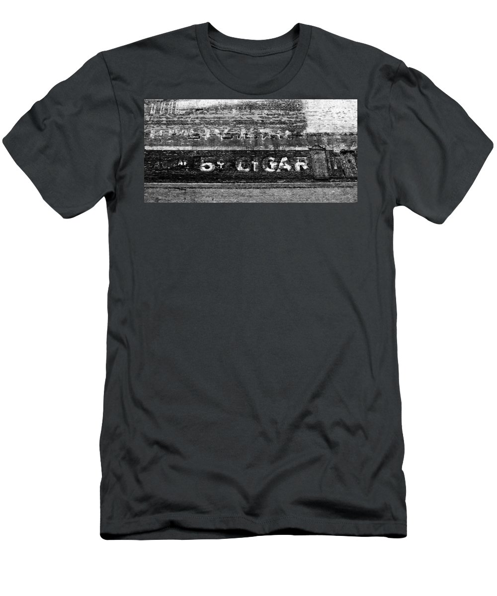 Cigar Men's T-Shirt (Athletic Fit) featuring the photograph Five Cent Cigar by David Lee Thompson