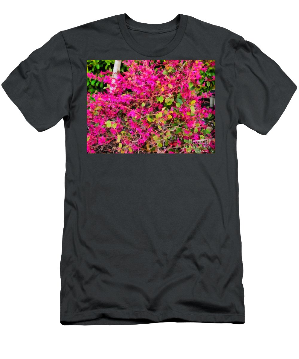 Flame T-Shirt featuring the painting Flame Bush by Paulette B Wright