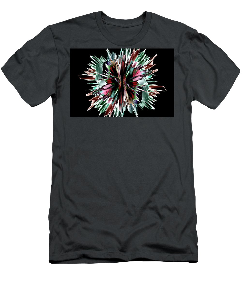 Star Men's T-Shirt (Athletic Fit) featuring the digital art Flash by Elisabet Bondesson
