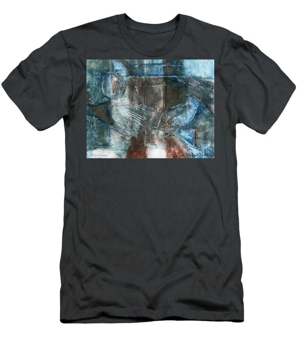 Flight Men's T-Shirt (Athletic Fit) featuring the drawing Flight Passage by Kerryn Madsen- Pietsch