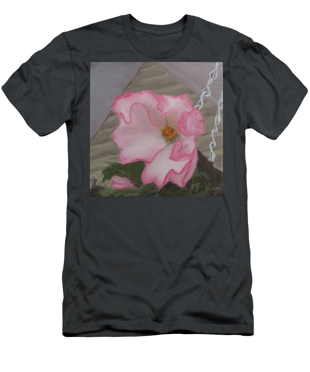 Flower T-Shirt featuring the painting Flirty Begonia by Lea Novak