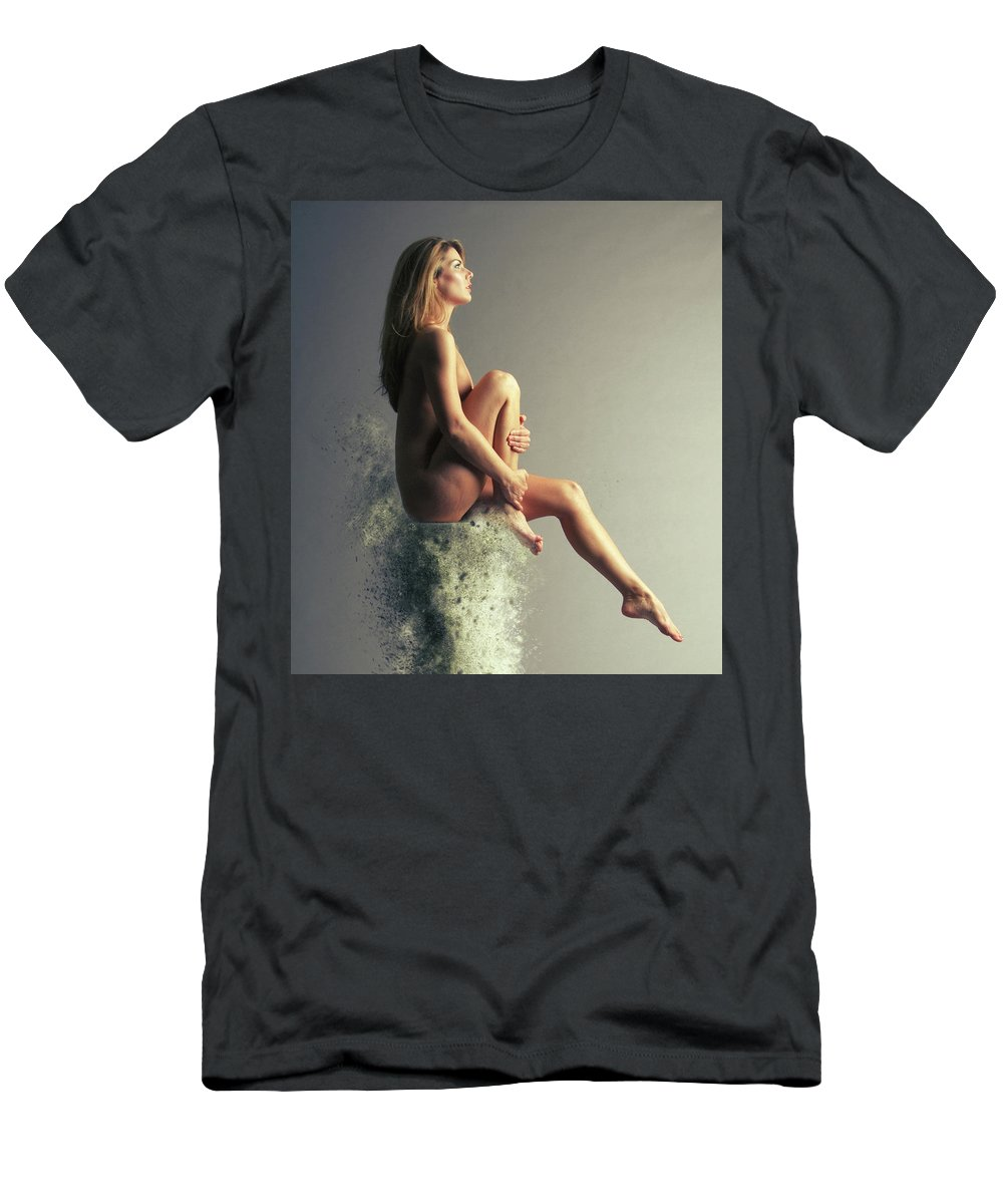 Marble Pillar Men's T-Shirt (Athletic Fit) featuring the photograph Float, Float On by Smart Aviation
