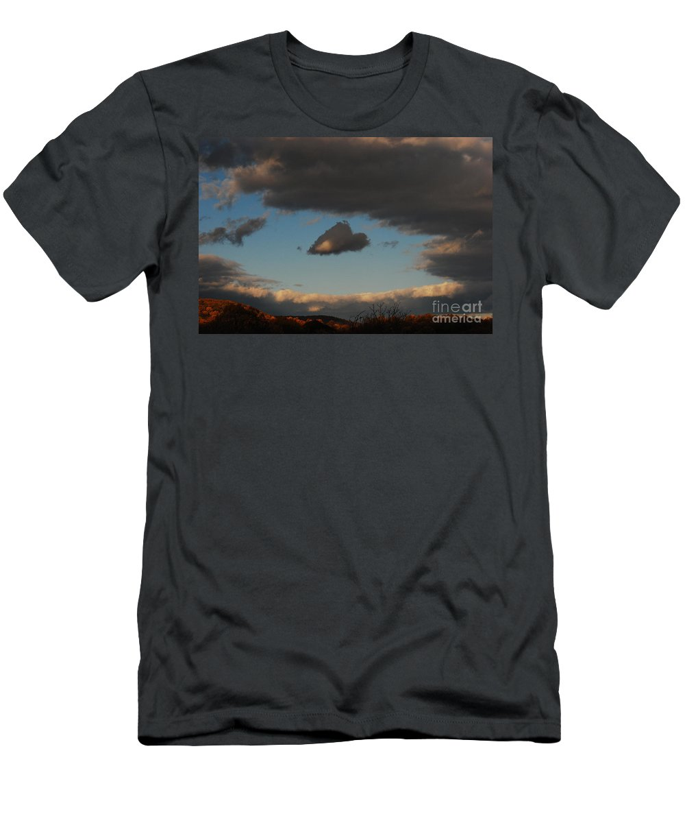 Heart Men's T-Shirt (Athletic Fit) featuring the photograph Floating Heart by Lori Tambakis