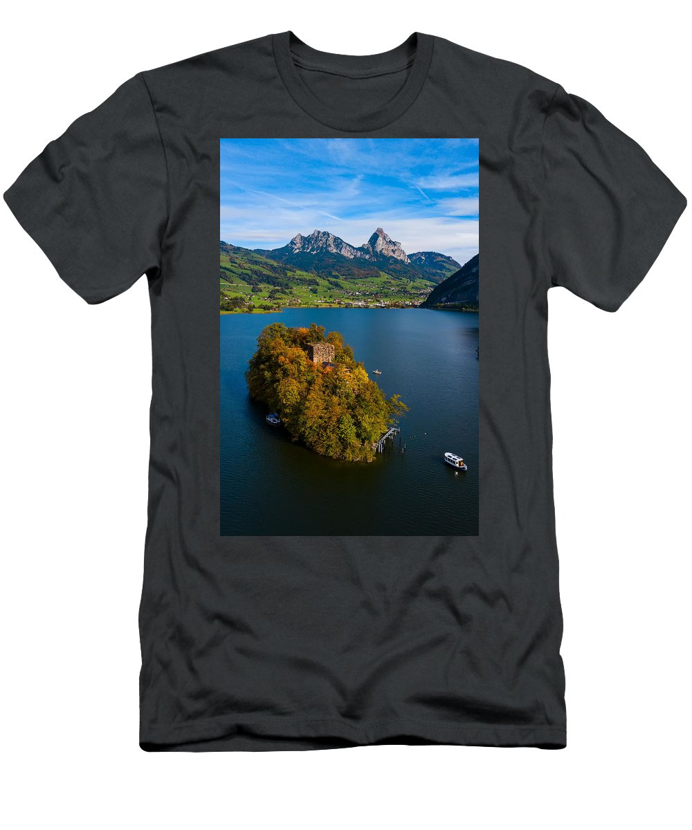 Men's T-Shirt (Athletic Fit) featuring the photograph Floating by Nedjat Nuhi