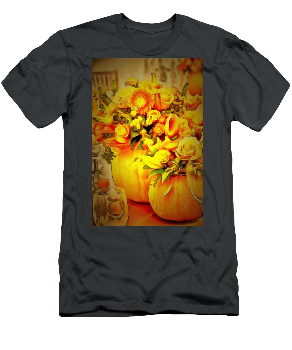 Floral In Ambiance Men's T-Shirt (Athletic Fit) featuring the digital art Floral In Ambiance by Catherine Lott