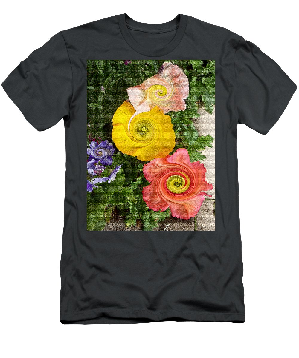 Floral Men's T-Shirt (Athletic Fit) featuring the digital art Floral Kaleidoscope by Donna Blackhall