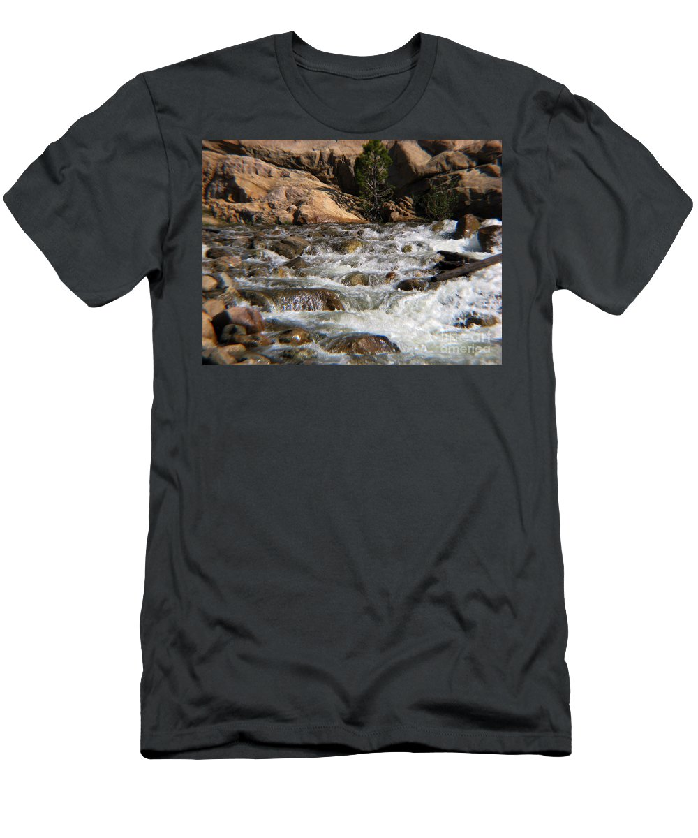 River Men's T-Shirt (Athletic Fit) featuring the photograph Flow by Amanda Barcon