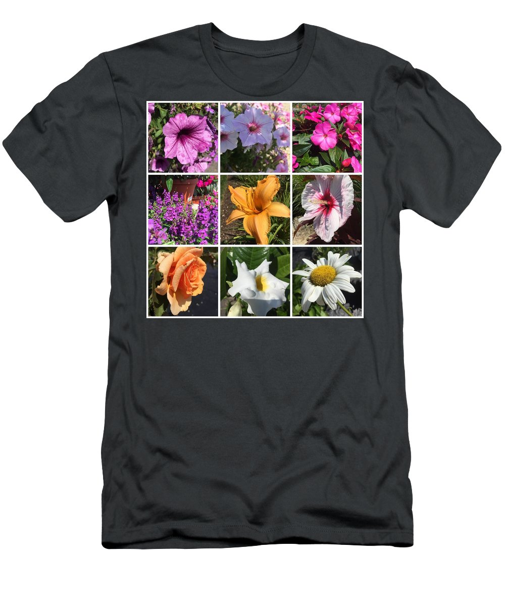 Flowers Men's T-Shirt (Athletic Fit) featuring the photograph Flower Pattern by Howard Rose