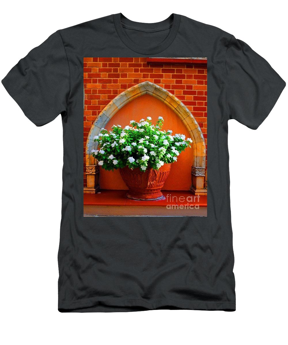 Flower Men's T-Shirt (Athletic Fit) featuring the photograph Flower Pot by Jost Houk