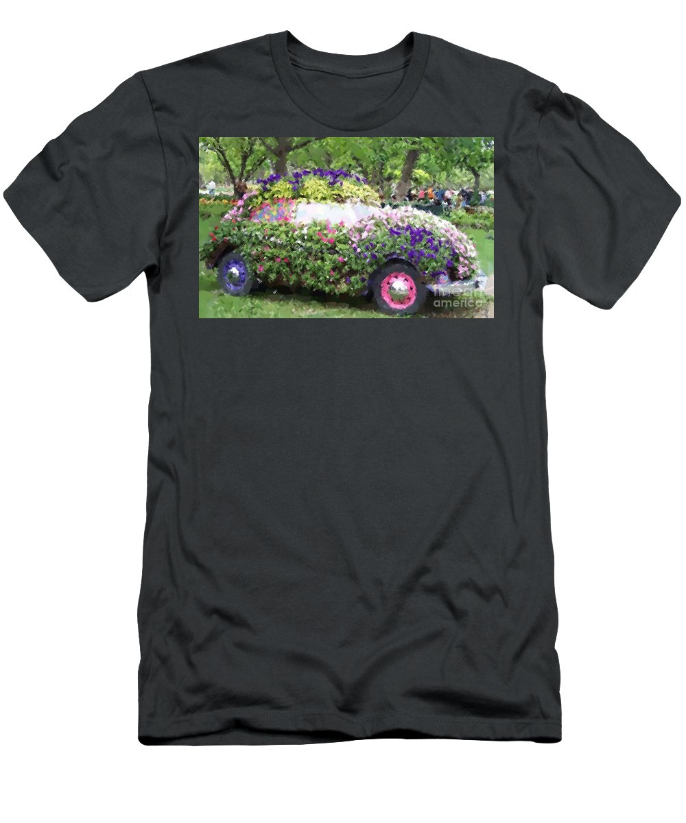 Cars Men's T-Shirt (Athletic Fit) featuring the photograph Flower Power by Debbi Granruth